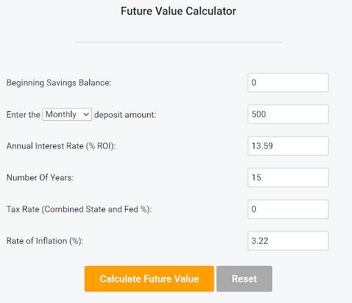 S&P 500 Index Fund Inputs 1