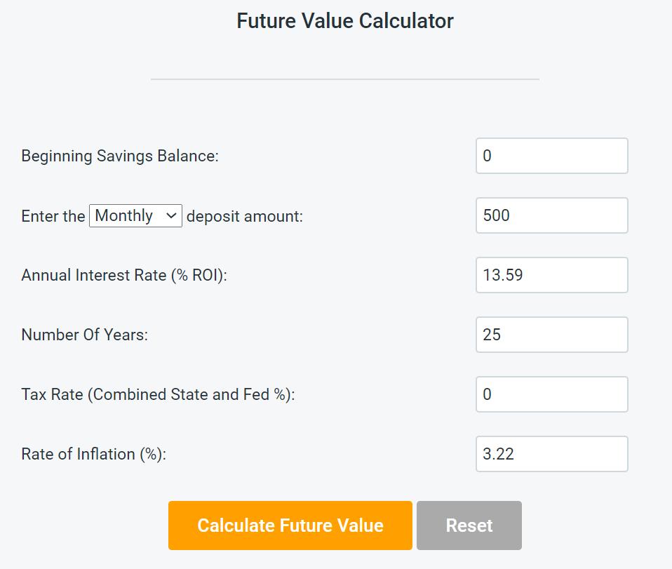 S&P 500 Index Fund Inputs 2